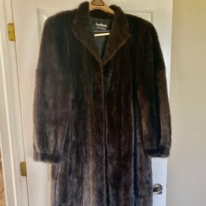 VINTAGE 'Genuine' Vison (Mink) Long Fur Coat